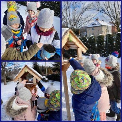 Przedszkolne zabawy na śniegu
